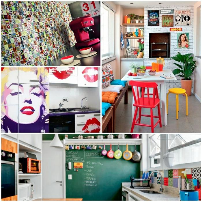 Kchendeko  22 tolle Ideen fr Deko im PopArt Stil
