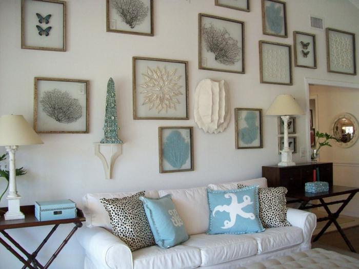 Wohnideen Wohnzimmer  39 Ideen fr ein sommerliches Flair im Winter