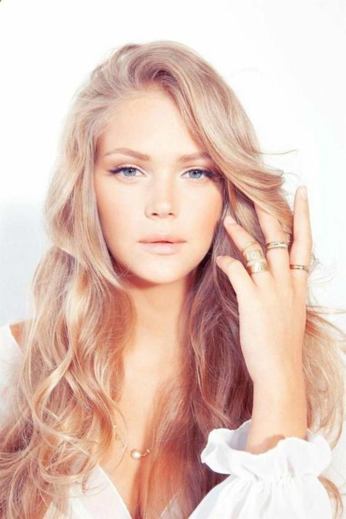 Rose Gold Haarfarbe Mischen 20 Gold Haarfarbe Ideen Tipps