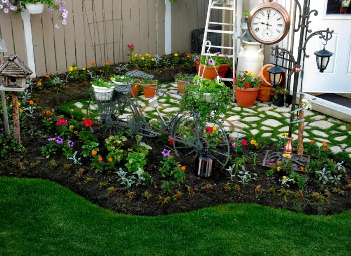 Gartendeko basteln  fhren Sie einen lndlichen Hauch in den Garten ein
