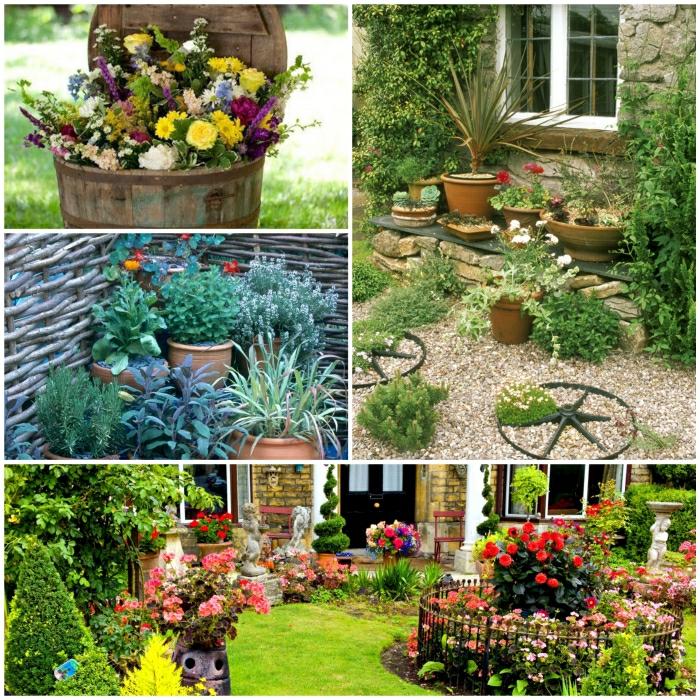 Gartendeko Basteln Fhren Sie Einen Lndlichen Hauch In