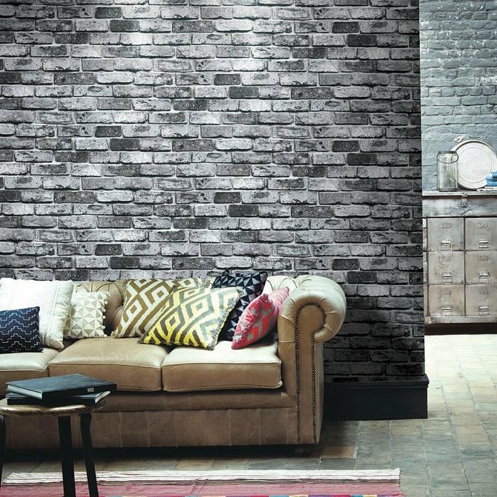 Mustertapeten in Mauerwerkoptik fr mehr sthetik und