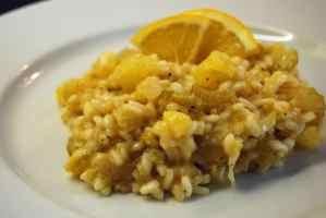 Orangen-Sellerie-Risotto ist herrlich fruchtig