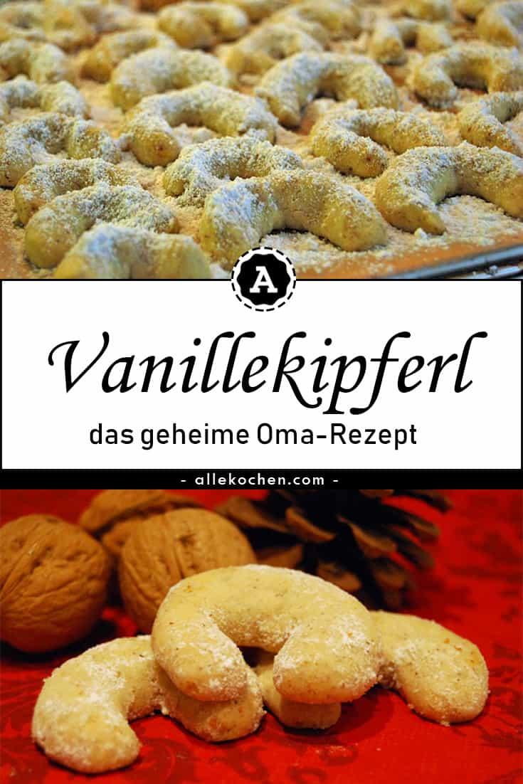 Klassische Vanillekipferl mit Puderzucker