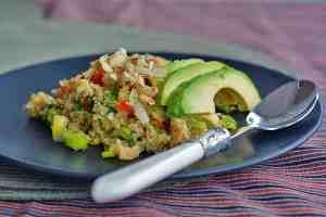 Der angerichtete Quinoa-Salat