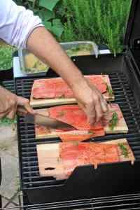 Fisch vom Grill mit Kräuter