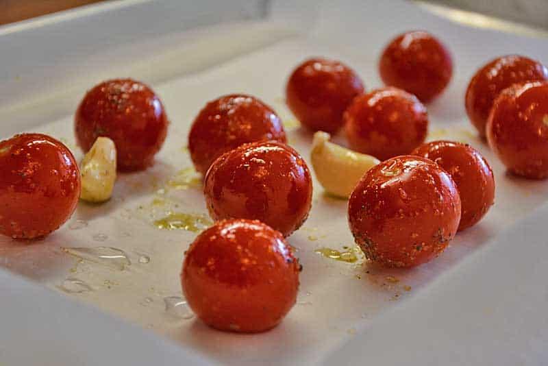 Cocktailtomaten für das Tomatenrisotto