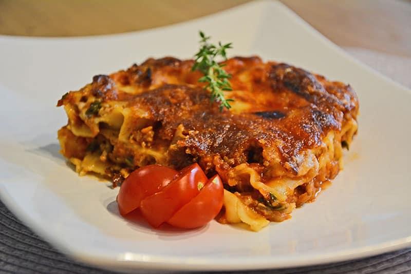 Eine perfekte Lasagne Bolognese