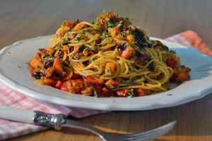Kürbis Pasta mit Radicchio