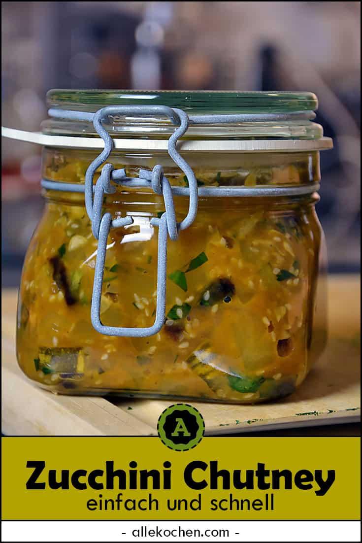 Das fertige Zucchini Chutney im Weckglas