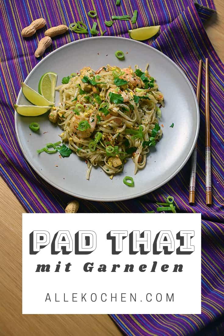 Rezept für thailändisches Pad Thai mit Garnelen