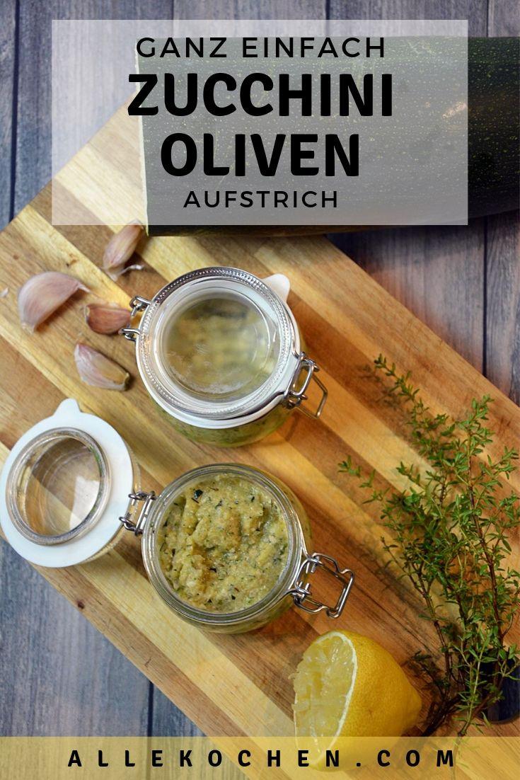 Ein einfaches und schnelles Rezept für Zucchini Oliven Aufstrich zum selber machen. Schmeckt wunderbar und passt toll für ein schnelles Abendessen.