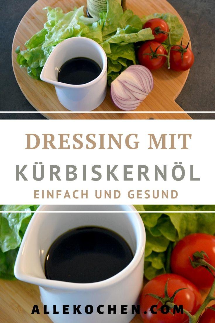 Ein einfaches Rezept für ein Kürbiskernöl Dressing für Salate. Das Dressing ist gesund passt besonders gut zu Blattsalat.