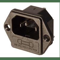 IEC POWER INLET MODULE W/ GMA FUSE HOLDER
