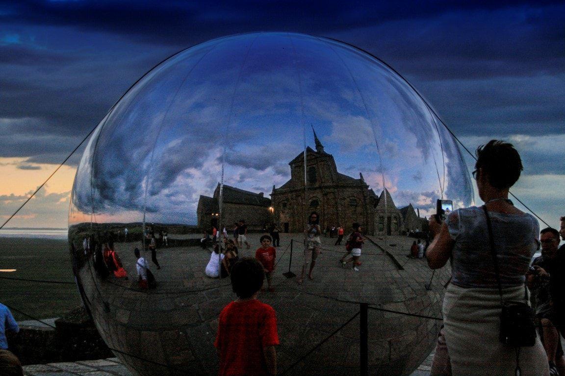Mont Saint Michel palla di vetro