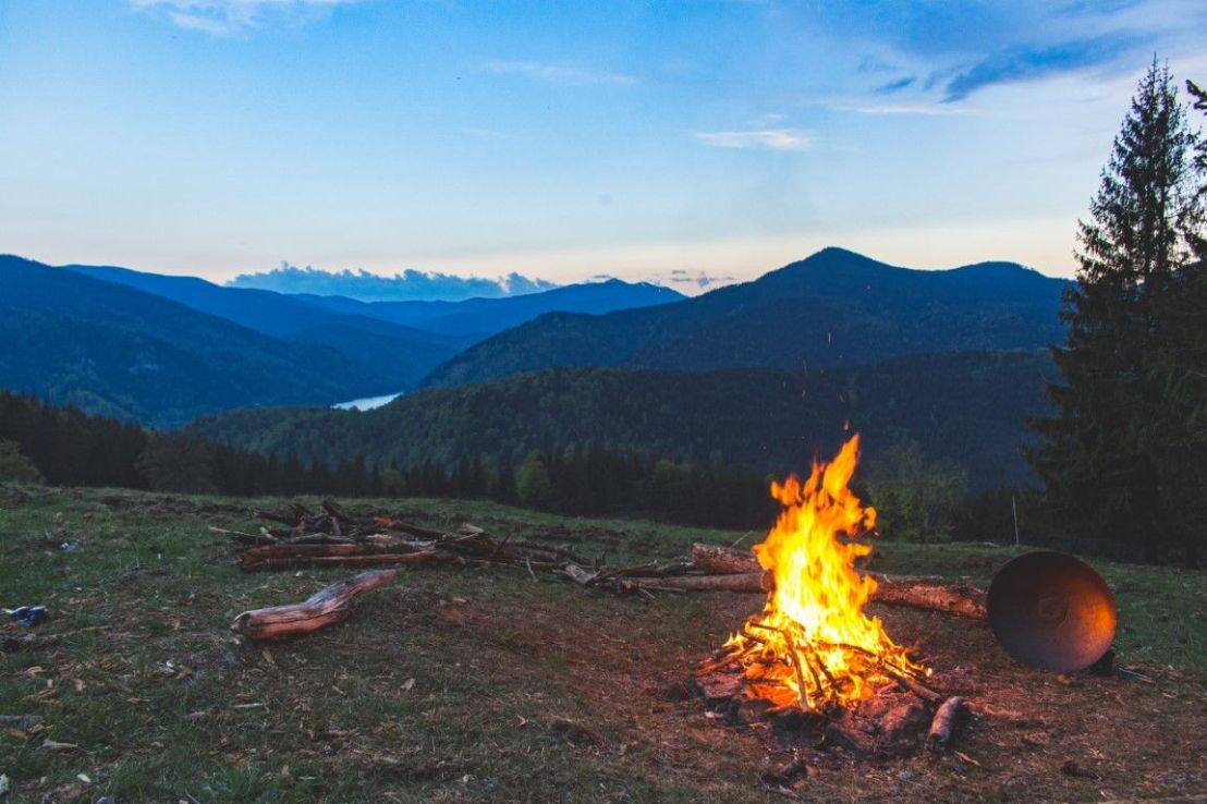campeggio montagna