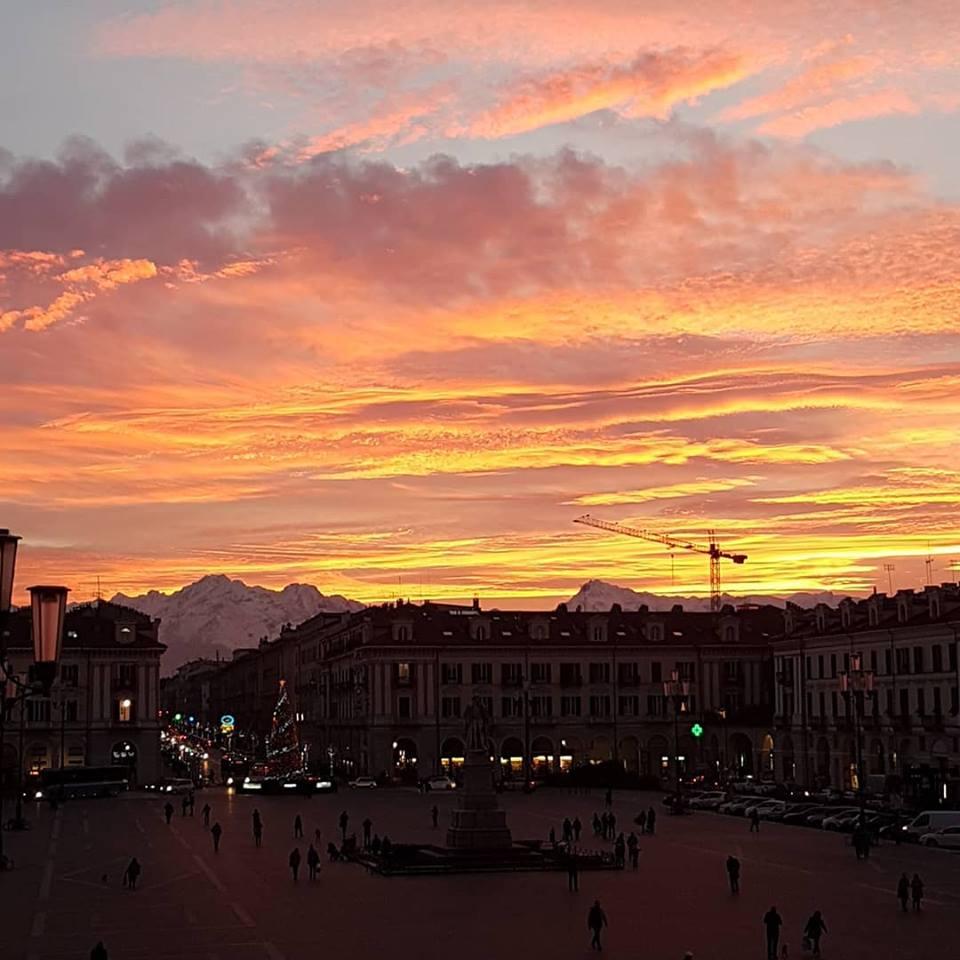 Cuneo al tramonto
