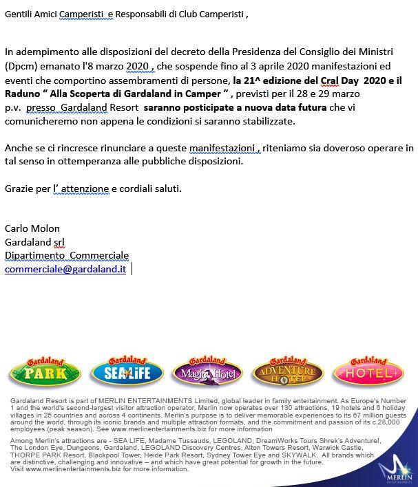 Comunicazione Gardaland