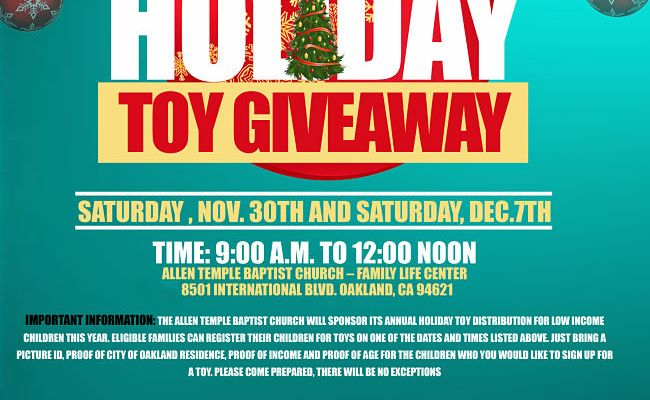 2019 Holiday Toy Giveaway Registration Allen Temple