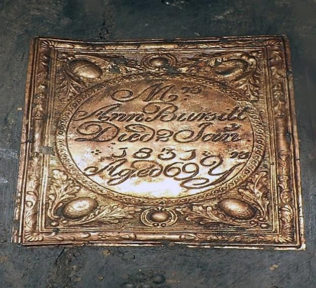Coffin plate of Ann Bursill