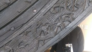 Detail of the woodworking from one of the ships