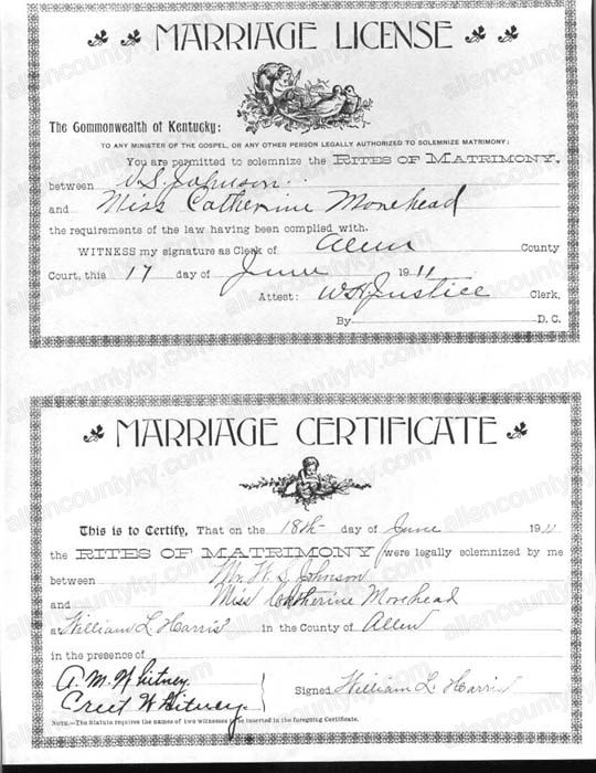 1911 Marriage Records
