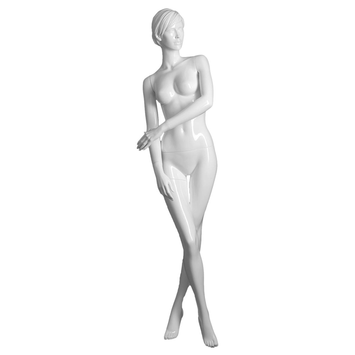 female matte white realistic