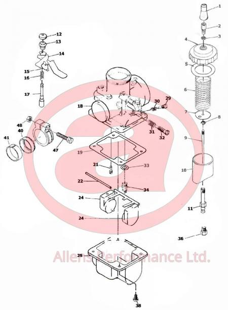 VM20-151 Carb Data Set - Allens Performance Ltd  Allens