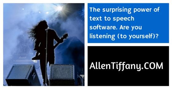 Text to Speech Software at AllenTiffany.COM