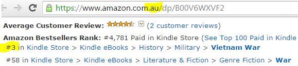 Australia, Vietnam War, Bestseller list, Vietnam War Novel, diggers