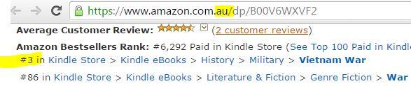 Vietnam war Australian army, bestseller list, amazon