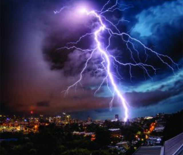 Explosive Lightning Bolt Captured Over Sydney Australia During A Storm Photo Australian Land City People Scape Photographer