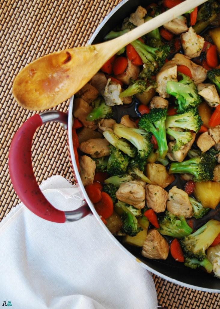 Teriyaki Chicken & Veggie Stir Fry (GF, DF, Egg, Soy, Peanut/Tree nut Free, Vegan Option) Recipe by Allergy Awesomeness
