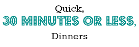 30 Minutes or Less Dinners by AllergyAwesomeness.com
