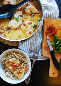 30 Minute Dairy-Free Creamy Tuscan Chicken (GF, DF, Egg, Soy, Peanut, Tree nut Free, Top 8 Free) Recipe by AllergyAwesomeness.com