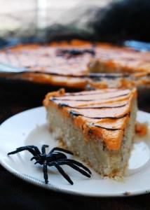 Spider Sugar Cookie Bars (Gluten, dairy, egg, soy, peanut & tree nut free; top 8 free; vegan) Dessert recipe by AllergyAwesomeness.com