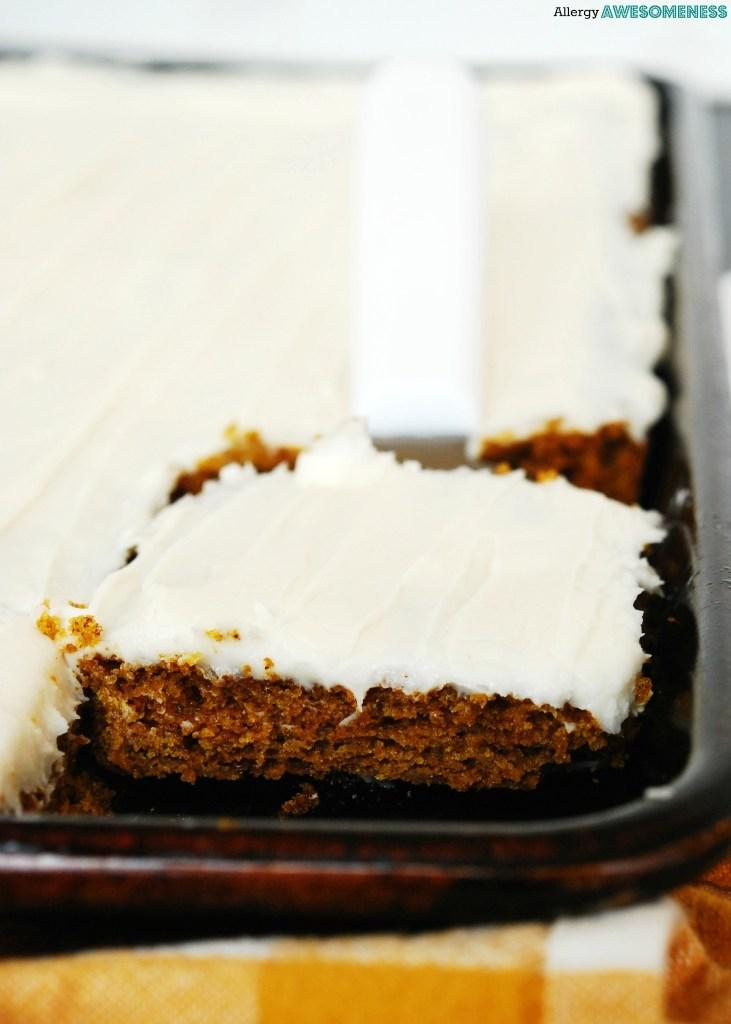 Dairy-free carrot sheet cake