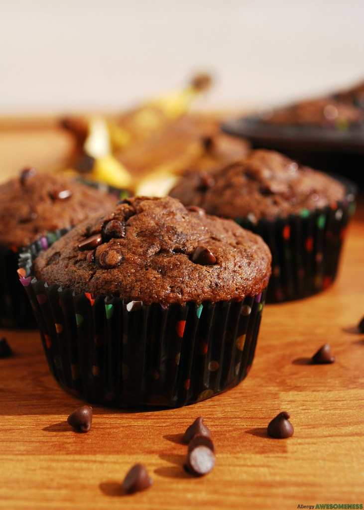 Vegan Chocolate Banana Muffin Recipe by AllergyAwesomeness