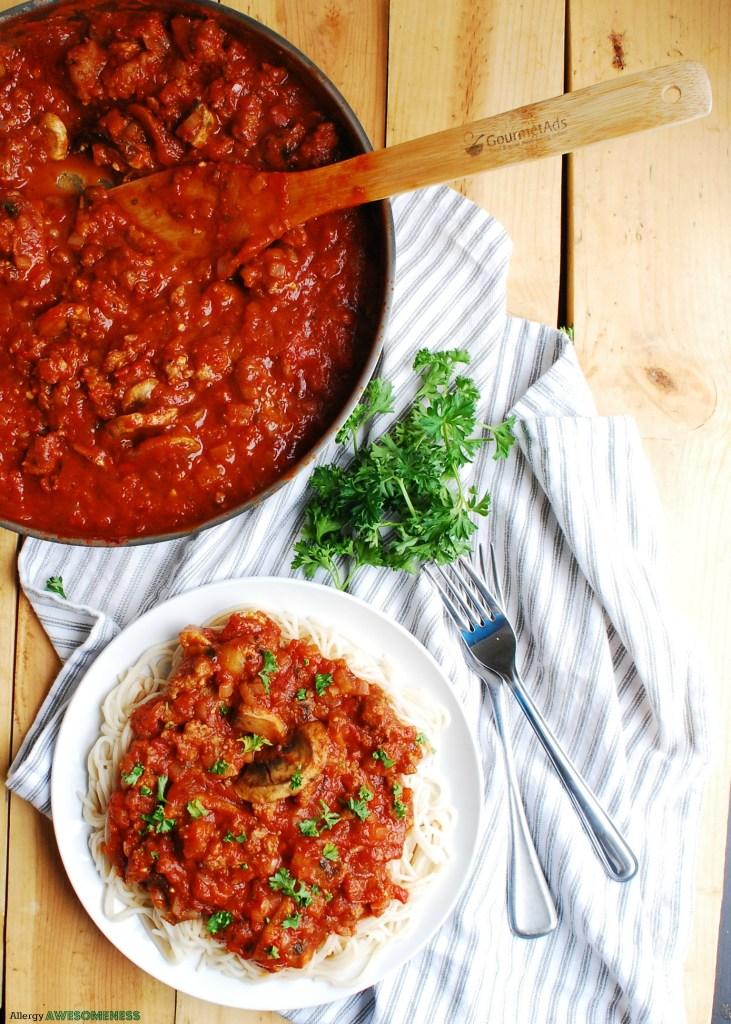 Gluten-free Ragu Recipe by Alllergy Awesomeness