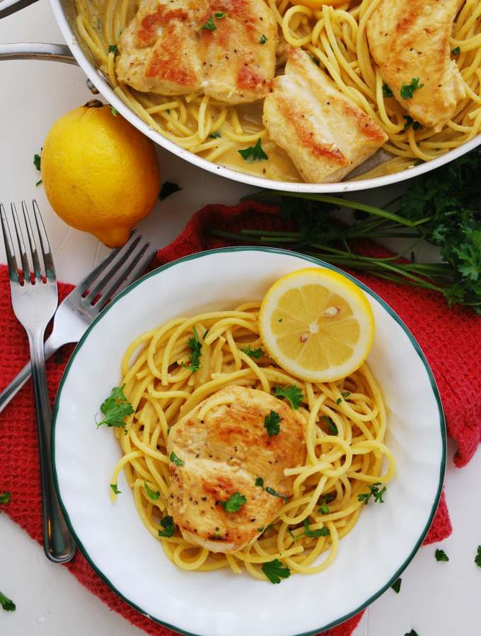 How to make lemon chicken pasta gluten and dairy free