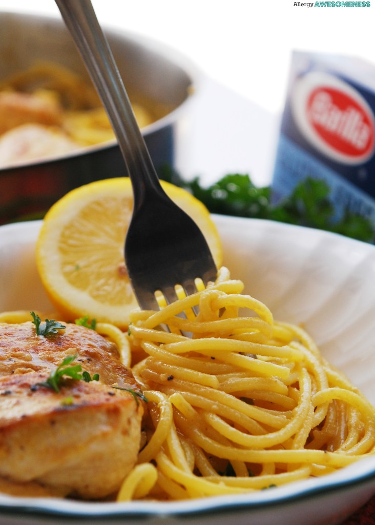 Dairy-free Creamy Lemon Chicken Pasta