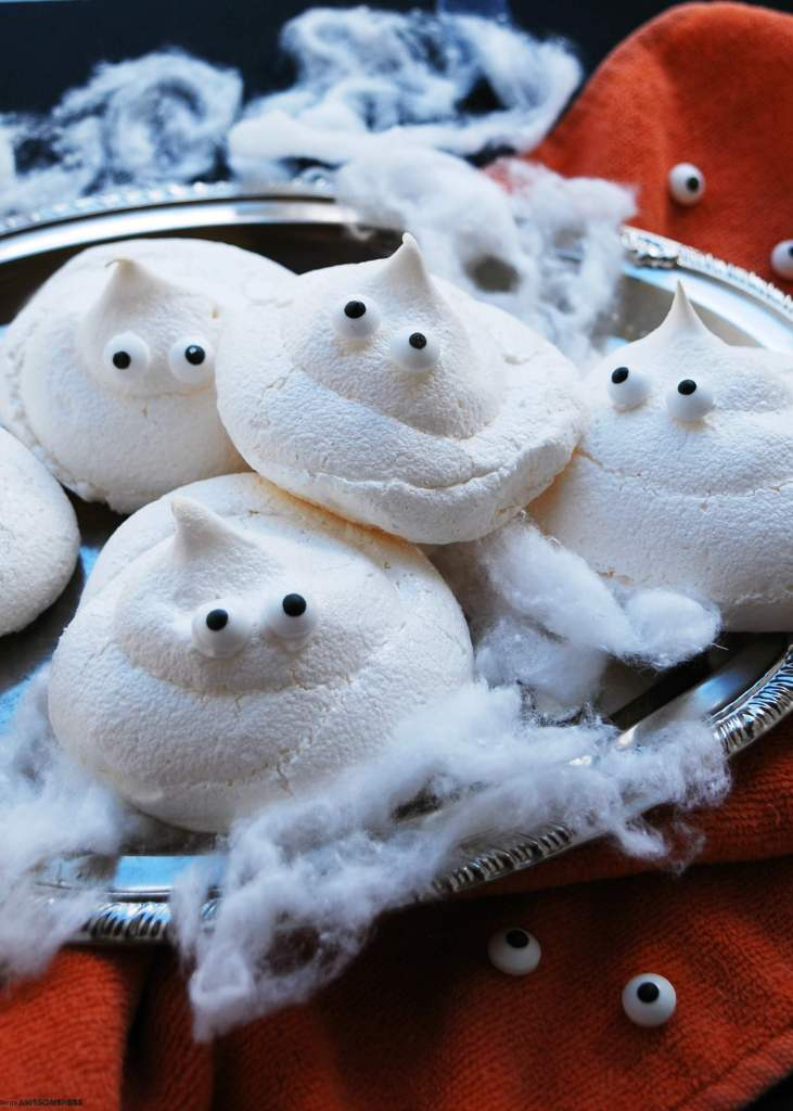 Egg-free Ghost Meringues Recipe by AllergyAwesomeness.com