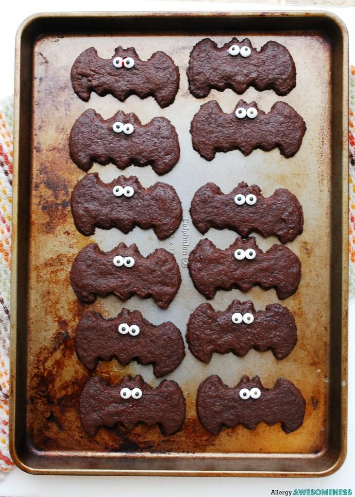 Vegan Chocolate Sugar Cookie Bats
