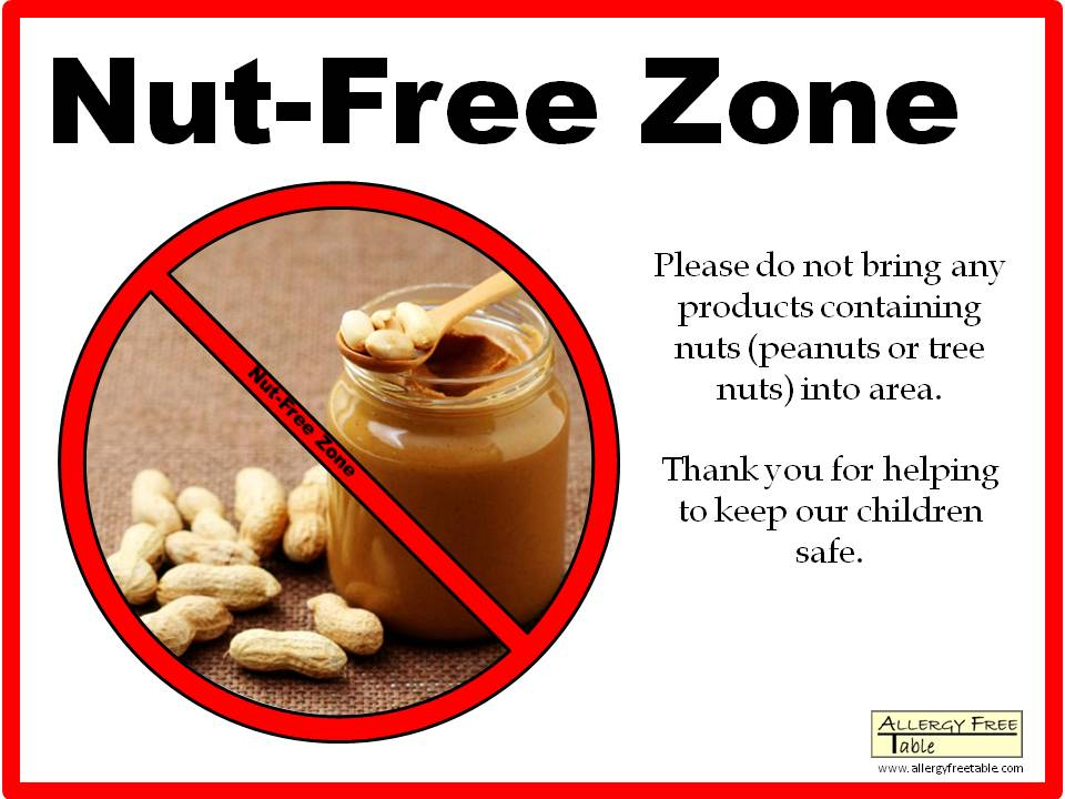 ... Peanut-free classroom sign - See All Sizes Peanut-free classroom sign