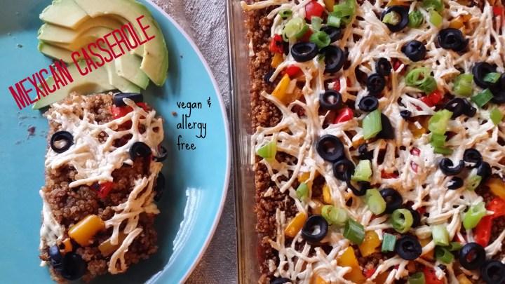 The best Allergy friendly & vegan dinner casserole