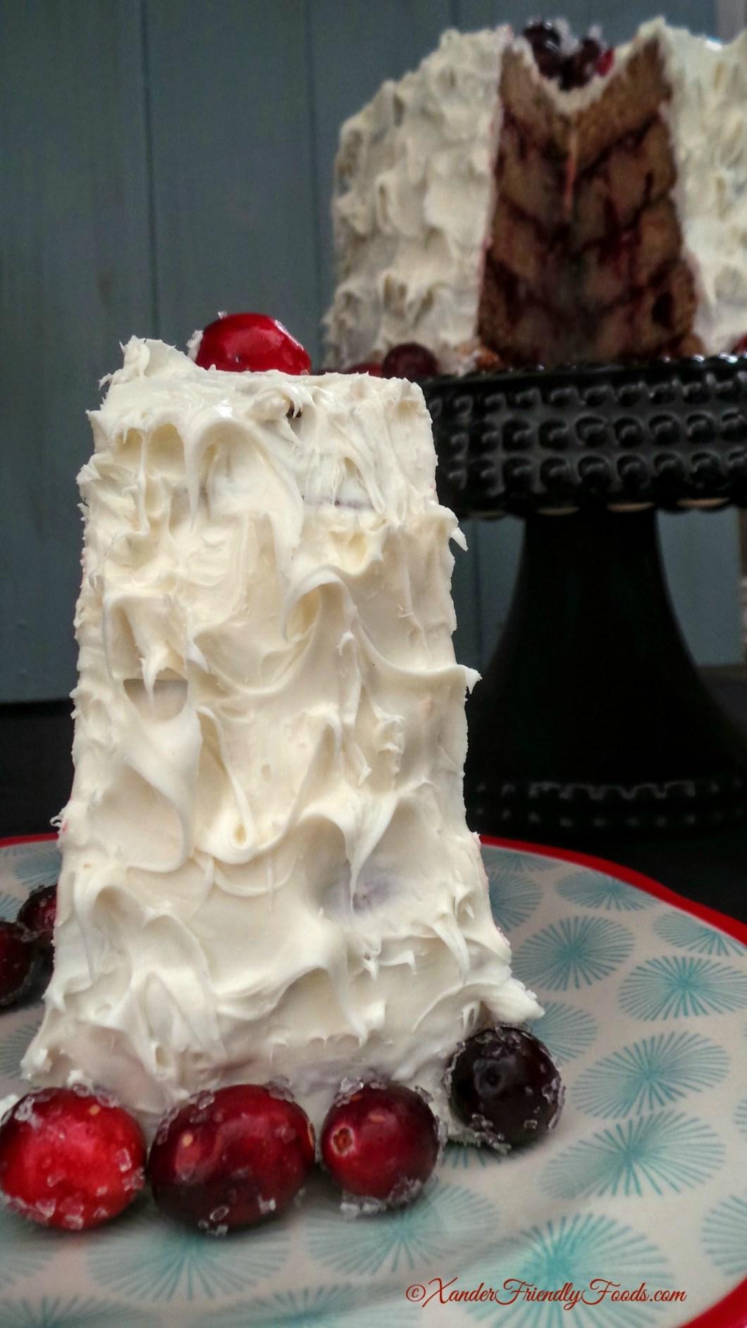 Cake served
