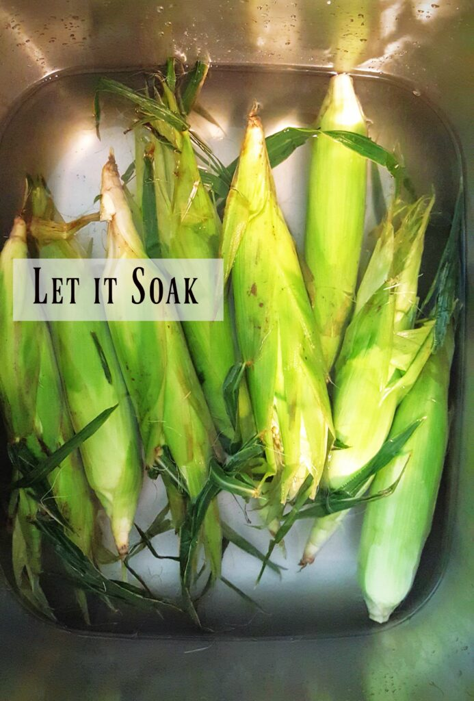 soaking the corn