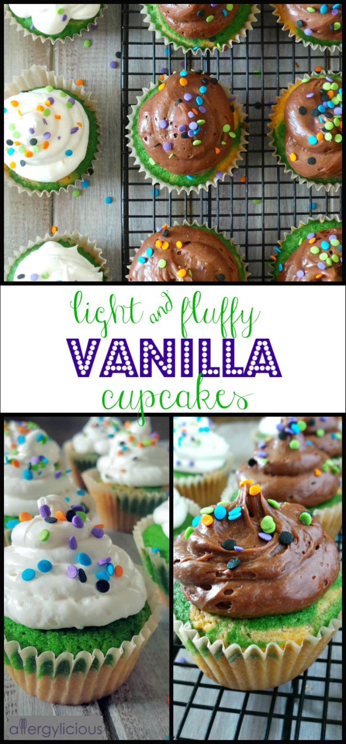 Fluffy Vanilla Cupcakes with Aquafaba