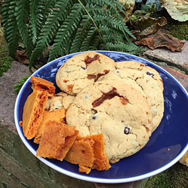 Vegan Honeycomb and Picari Chocolate Cookies