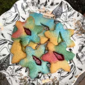 Vegan Stained Glass Sugar Cookies